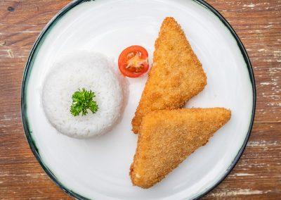 Breaded Cheddar, Rice